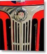 1949 Willys Jeepster Hood Ornament And Grille Metal Print