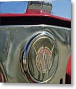 1949 Willys Jeepster Hood Ornament Metal Print