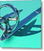 1950 Buick Hood Ornament Metal Print