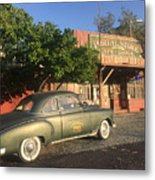 1950 Chevrolet Coupe In Front Of Portal Store Metal Print