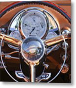 1950 Oldsmobile Rocket 88 Steering Wheel 2 Metal Print