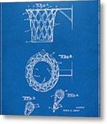 1951 Basketball Net Patent Artwork - Blueprint Metal Print by Nikki Marie Smith