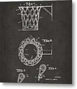 1951 Basketball Net Patent Artwork - Gray Metal Print