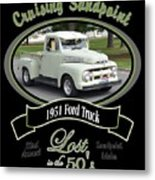1951 Ford Truck Shields Metal Print