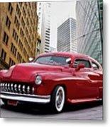 1951 Mercury 'candy Custom' Sled L Metal Print