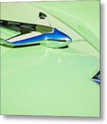 1951 Studebaker Commander Hood Ornament 3 Metal Print by Jill Reger