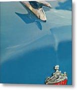 1952 Crosley Super Woody Wagon Hood Ornament Metal Print