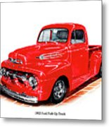1952 Ford Pick Up Truck Metal Print