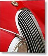 1952 Jaguar Xk 120 Grille Emblem Metal Print