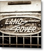 1952 Land Rover 80 Grille  Emblem -0988s2 Metal Print