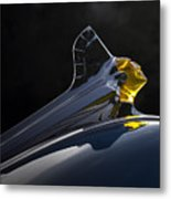 1952 Pontiac Catalina Chieftan Lighted Hood Ornament 2 Metal Print