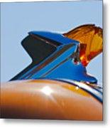 1952 Pontiac Tin Woodie Wagon Hood Ornament 2 Metal Print