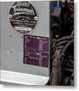 1952 Triumph Renown Limosine --- Vehicle Identification Tags Metal Print