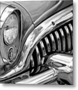 1953 Buick Chrome Bw Metal Print