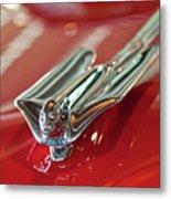 1953 Cadillac Eldorado Convertible Hood Ornament Metal Print