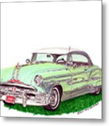 1953 Pontiac Chieftain Catalina H.t. Metal Print