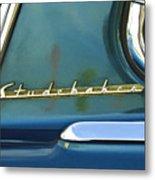 1953 Studebaker Champion Starliner Abstract Metal Print
