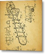 1954 Chainsaw Patent Metal Print
