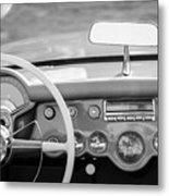 1954 Chevrolet Corvette Steering Wheel -368bw Metal Print