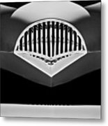 1954 Kaiser Darrin Grille Black And White Metal Print