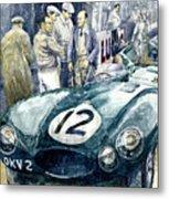 1954 Le Mans 24 Jaguar D Type Short Nose Stirling Moss Peter Walker  Metal Print