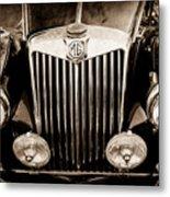 1954 Mg Tf Grille Emblem -0165s Metal Print
