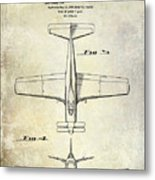 1955  Airplane Patent Drawing 2 Metal Print