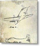 1955  Airplane Patent Drawing Metal Print