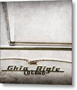 1955 Alfa Romeo 1900 Css Ghia Aigle Cabriolet Grille Emblem - Super Sprint Emblem -2266ac Metal Print