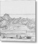 1955 Chevrolet 210 Classic Car Art Print Metal Print