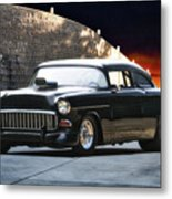 1955 Chevrolet Coupe 'sinister Chevy' Metal Print