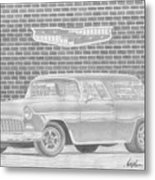 1955 Chevrolet Nomad Classic Car Art Print Metal Print