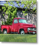 1955 Ford F100 Truck Metal Print