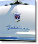 1955 Ford Fairland Hood Ornament Metal Print