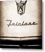 1955 Ford Fairlane Crown Victoria Emblem -1713s Metal Print