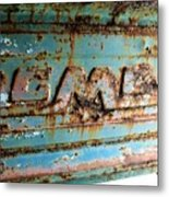 1955 Gmc Truck Tailgate Metal Print