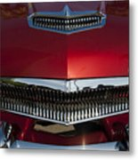1955 Kaiser Hood Ornament And Grille Metal Print