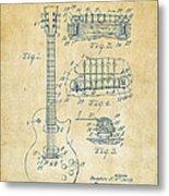 1955 Mccarty Gibson Les Paul Guitar Patent Artwork Vintage Metal Print