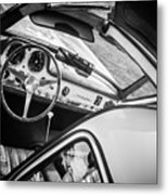 1955 Mercedes-benz 300sl Gullwing Steering Wheel - Race Car -0329bw Metal Print
