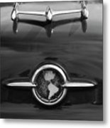 1955 Oldsmobile Holiday 88 Hood Ornament 2 Metal Print