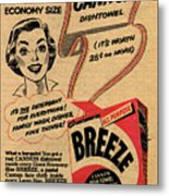 1955 Vintage Washing Powder Advert Metal Print