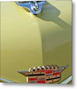 1956 Cadillac Sedan Deville Hood Ornament Metal Print