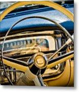 1956 Cadillac Steering Wheel Metal Print