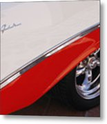 1956 Chevrolet Belair Convertible Wheel Metal Print