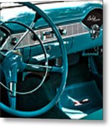 1956 Chevrolet Belair Interior Hdr No 1 Metal Print