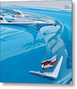 1956 Chevrolet Belair Nomad Hood Ornament Metal Print