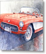 1956 Chevrolet Corvette C1 Metal Print