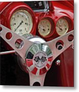 1956 Corvette Dashboard Metal Print