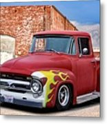 1956 Ford F100 'brickyard' Pickup Metal Print