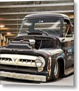 1956 Ford F100 'workingmans' Pickup I Metal Print